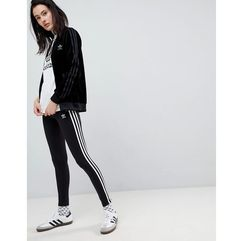 Adidas originals adicolor three stripe leggings in black - black
