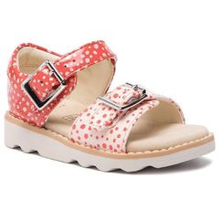 Sandały - crown bloom t 261421306 orange marki Clarks