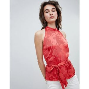 rose jacquard sleeveless top - red marki Gestuz