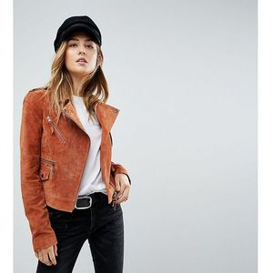 ASOS TALL Suede Jacket - Brown