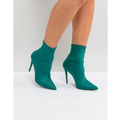 cirelle pull on sock boot in emerald green - green marki Aldo