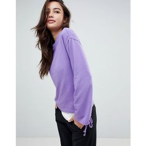 JDY rouched sleeve sweater - Purple