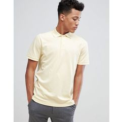 Abercrombie & Fitch Stretch Core Moose Icon Logo Slim Fit Polo in Yellow - Yellow, w 6 rozmiarach