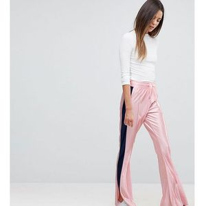 trackpants with kickflare hem and side piping - pink, Asos tall