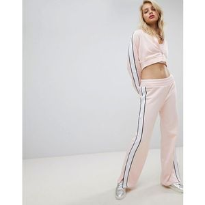 Juicy By Juicy Couture Retro Wide Leg Jogger With Split Hem - Pink