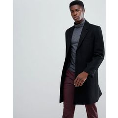 wool mix overcoat in black - black, Asos design, XXS-M