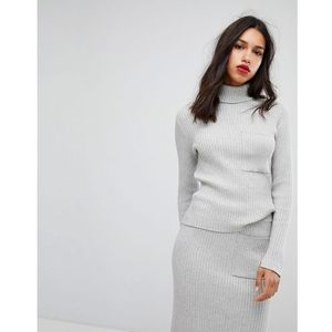 Vero Moda Knitted Roll Neck - Grey