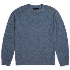Brixton Sweter - anderson sweater blue (blue) rozmiar: l