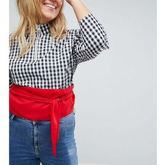 Asos curve red fabric obi belt - red