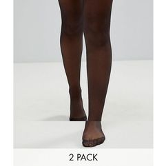 ASOS 2 Pack 15 Denier Tights - Black, kolor czarny