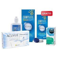 ACUVUE OASYS 6 szt. + płyn Complete RevitaLens 120 ml + krople Blink Contacts + płyn 60 ml