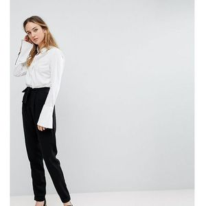 woven peg trousers with obi tie - black marki Asos tall