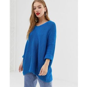 Noisy May v-neck oversized jumper - Blue