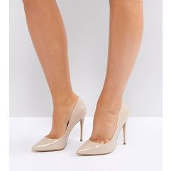 wide fit beige pointed court shoes - beige, Aldo