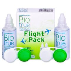 Płyn do soczewek biotrue flight pack 2 x 60 ml marki Bausch & lomb