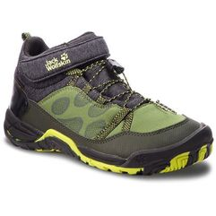Jack wolfskin Półbuty - jungle gym texapore mid k 4030651 gorilla