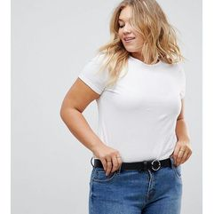 jeans belt with circle & triangle detail buckle water based - black marki Asos curve