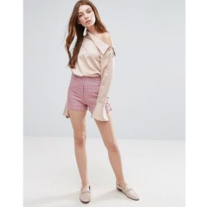 Neon Rose Textured Shorts - Pink