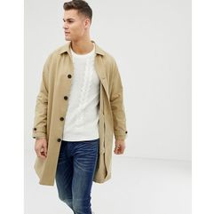 ASOS DESIGN longline trench coat in camel - Tan