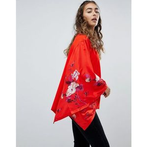 Free people sydneys floral batwing sleeve top - orange
