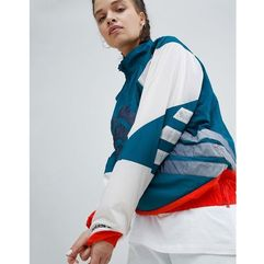 adidas Originals Nova Colourblock Half Zip Jacket - Red, w 5 rozmiarach