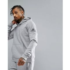 Adidas athletics stadium hoodie in grey cf2406 - grey