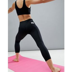 ASOS 4505 Ultimate Yoga Legging In 7/8 Length - Black, kolor czarny