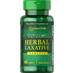 Tabletki Herbal Laxative Puritan's Pride 100 Tabletek Zaparcia