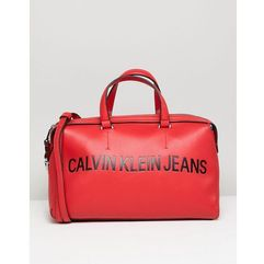 jeans sculpted barrel bag with logo - red marki Calvin klein