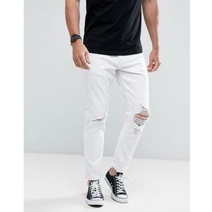 Rollas Thin Captain Jeans Flame Trees White - White, jeans