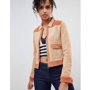 Pepe Jeans Patchie Western Suede Jacket - Brown