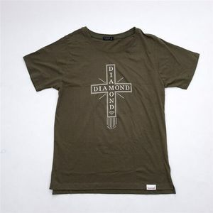 tričko DIAMOND - Skate Life Cross Tee Military Green (MGRN)