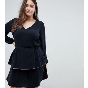 tiered dress - black, Junarose