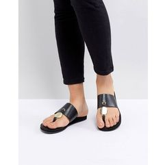 Aldo t bar sandal in black - black