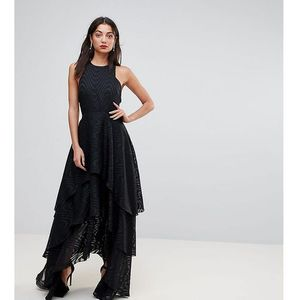 Y.A.S Tall Tiered Maxi Dress - Black