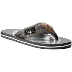 Japonki TOMMY HILFIGER - Essential Th Beach Sandal FM0FM01369 Steel Grey 039, 40-48