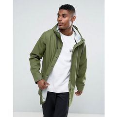 ASOS Shower Resistant Rain Coat In Khaki - Green