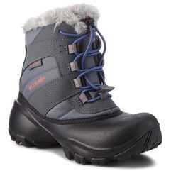 Columbia Śniegowce - youth rope tow iii waterproof by1323 ti grey steel/red canyon 033
