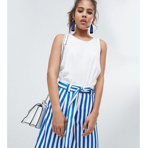 Y.a.s tall stripe high waist short - multi
