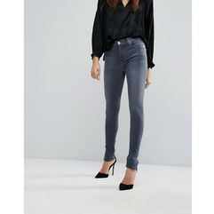 7 For All Mankind High Rise Skinny Jean with Split Hem Detail - Grey, kolor szary