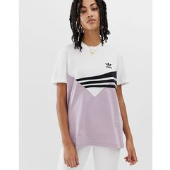 linear t-shirt in lilac and black - purple marki Adidas originals