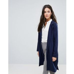 Y.A.S Anna Classic Trench Coat - Navy, kolor szary