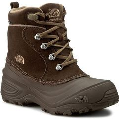 The north face Śniegowce - youth chilkat lace ii t92t5rre2 demitasse brown/cub brown