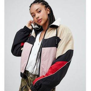 Bershka zip up lined windbreaker - multi