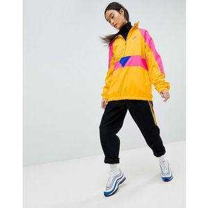 vaporwave oversized half zip track jacket in yellow with colour block - yellow marki Nike
