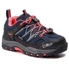 Trekkingi CMP - Kids Rigel Low Trekking Shoes Wp 3Q54554 Anthracite/Red Fluo 95BD, kolor wielokolorowy