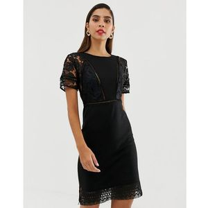 viola lula lace jersey - black marki French connection
