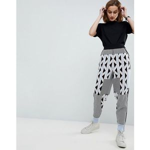 ASOS WHITE Knitted Co-ord Jogger in Geo Print - Multi, kolor biały