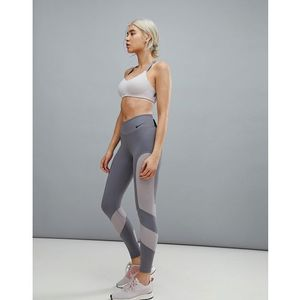 window pane legging in grey - grey marki Nike training