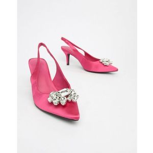 - light embellished kitten heel pumps - pink, Na-kd